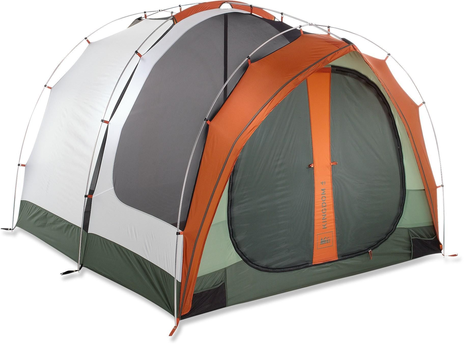The REI Kingdom 4 tent is a c&ground palace for families or couples. It has  sc 1 st  Pinterest & The REI Kingdom 4 tent is a campground palace for families or ...