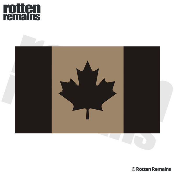Canada Desert Tan Black Subdued Flag Decal Canadian Vinyl - Vinyl decal stickers canada
