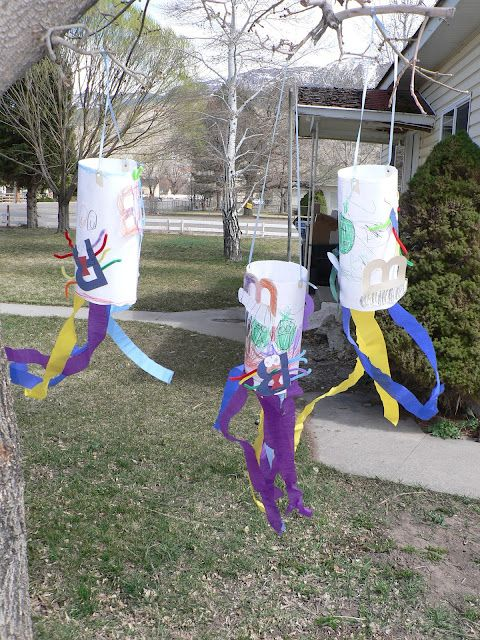 Bugs Blowing in the Breeze -kid craft with bugs and the letter B
