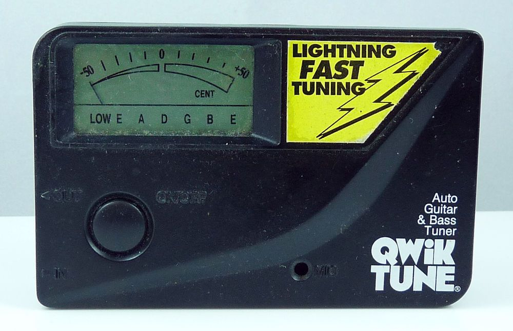 QWIK TUNE AUTO GUITAR AND BASS TUNER Bass tuner, Tuner, Qwik