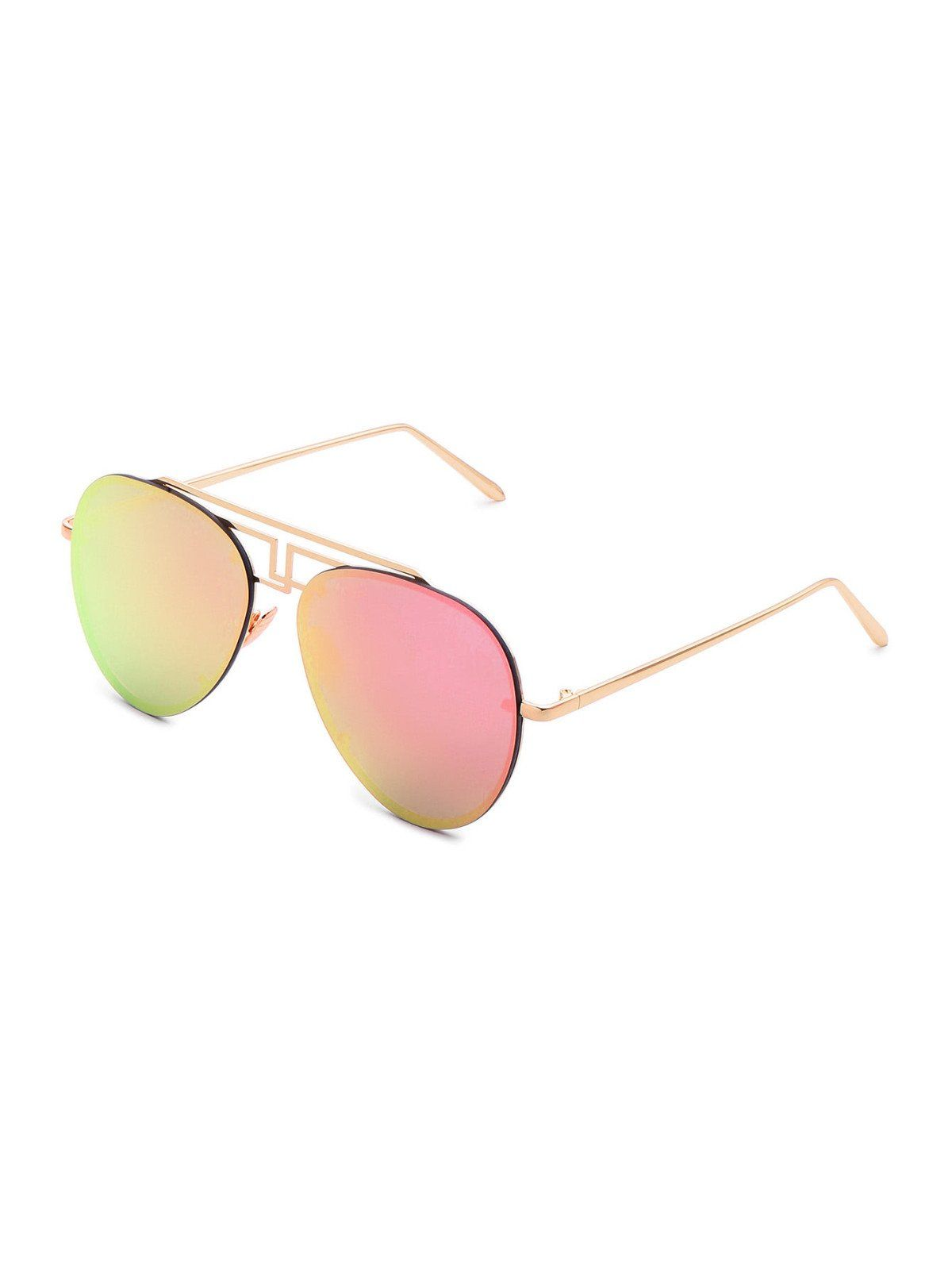 7f0b5cd0e3f SheIn offers Asymmetrical Top Bar Rimless Aviator Sunglasses   more to fit  your fashionable needs.