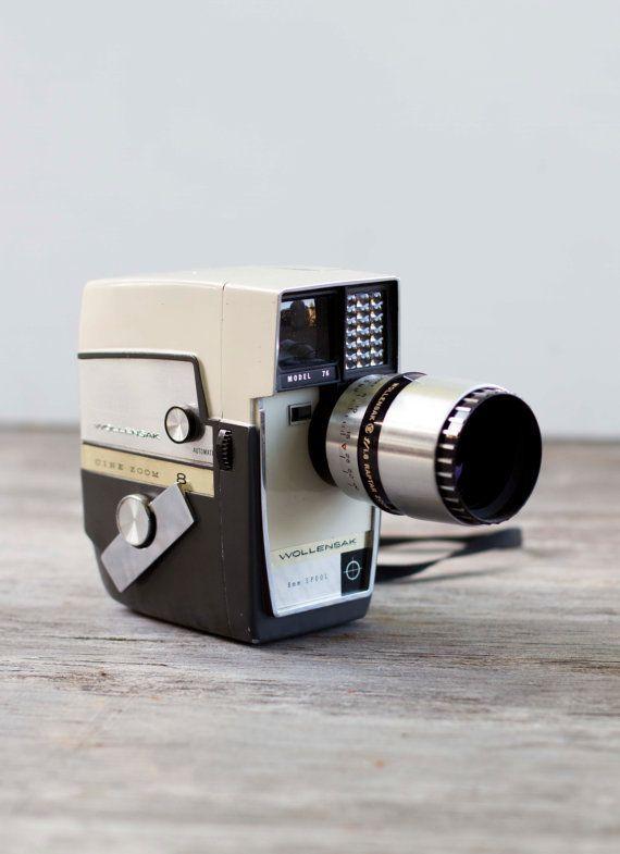 Sale Vintage 1962 Wollensak Model 76 Cine Zoom 8 Camera 8mm Vintage Electronics Zoom Lens Wide Angle