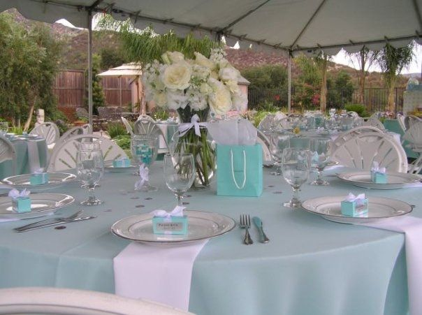 Tables- Tiffany's Theme Baby Shower