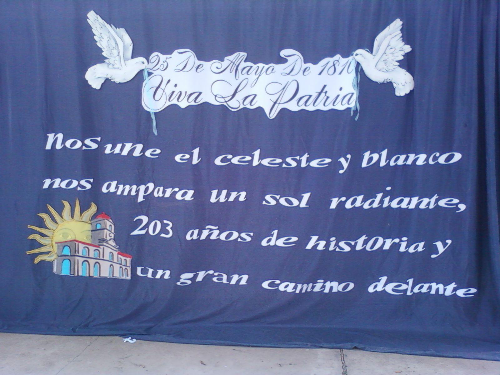 Resultado de imagen para frases para el 25 de mayo para for Decoracion 9 de julio secundaria