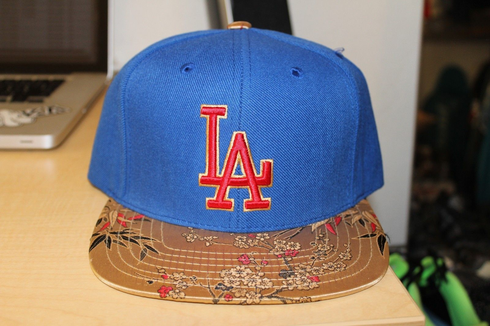 La Dodgers Japanese Print Snapback Gold Los Angeles American Needle Strapback