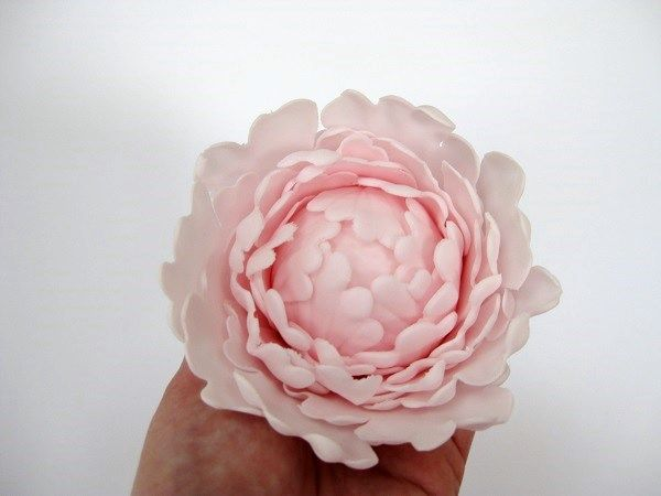 Gumpaste Peony Tutorial Sugar Flowers For Beginner S Series Fondant Flower Tutorial Gum Paste Fondant Flowers