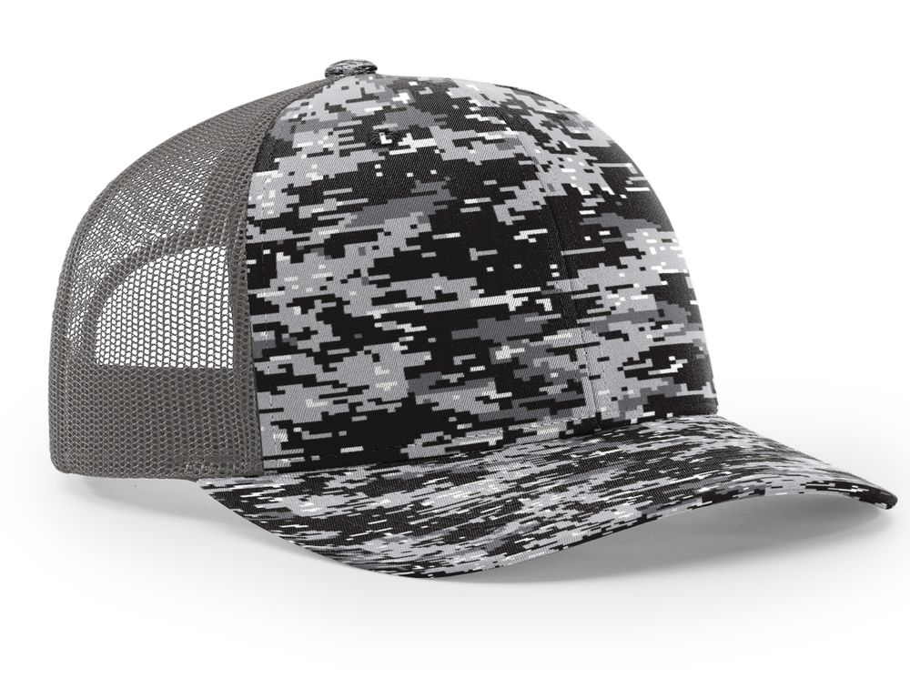 00efad28bb9af7 Capwholesalers carries a full line of camo caps including the Richardson  Trucker Digital Camo Pattern Twill Trucker Mesh.