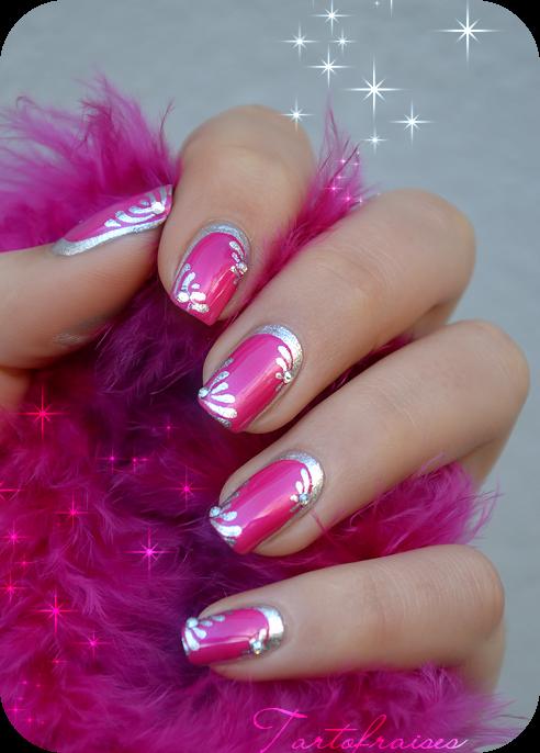 Tartofraises Nail Nails Nailart Nails Pinterest Silver Nail