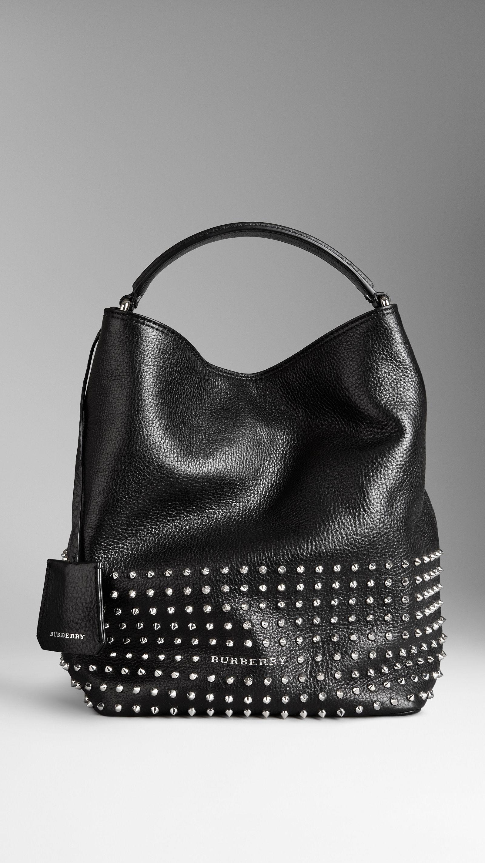 burberry bag black leather