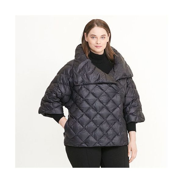 Ralph Lauren Lauren Woman Quilted Mockneck Down Jacket (€120) ❤ liked on  Polyvore featuring plus size women's fashion, plus size clothing, ...