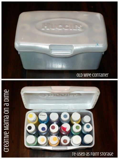 30 Surprising Ways To Re Purpose Baby Wipe Containers Craft Etc