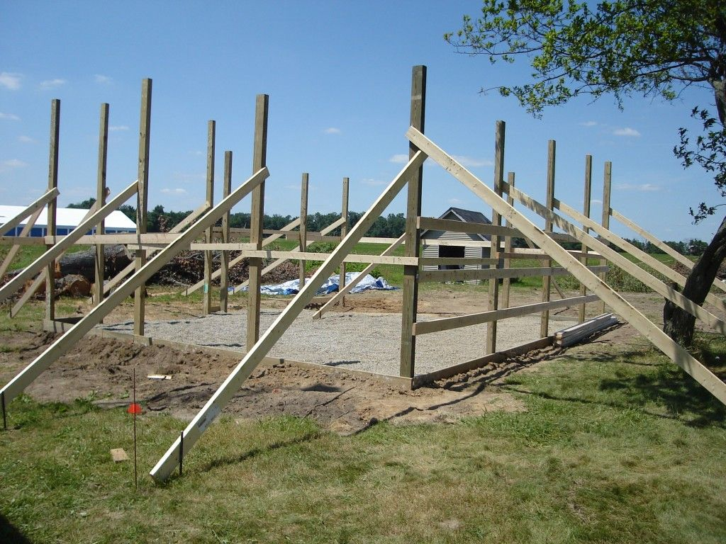 24 x 30 pole barn garage construction materials by for Pole building ideas