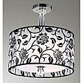 cool black and white floral chandelier
