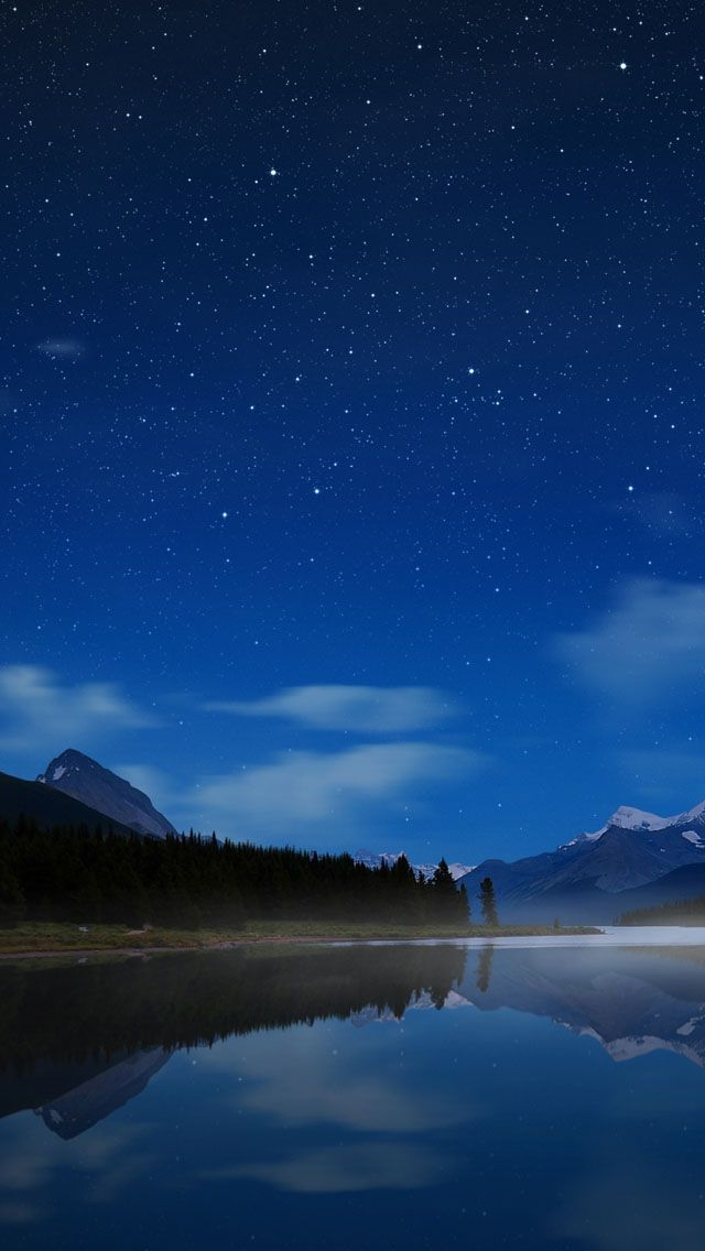Maligne Starry Sky iPhone 5 Wallpaper Background, Starry