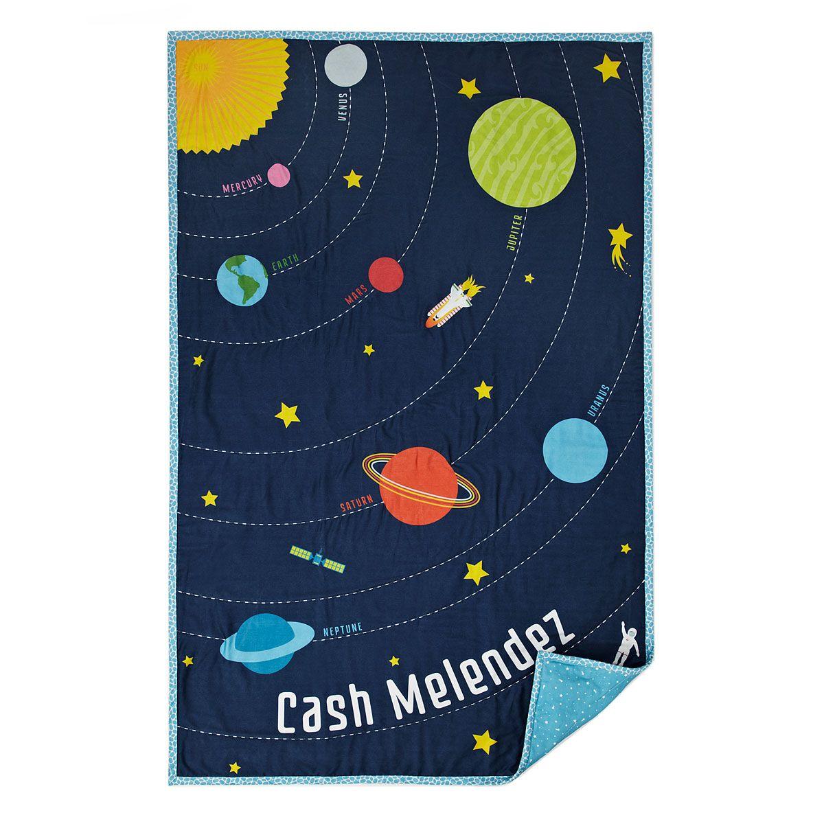 Custom solar system quilt solar system solar and universe for Solar system quilt pattern