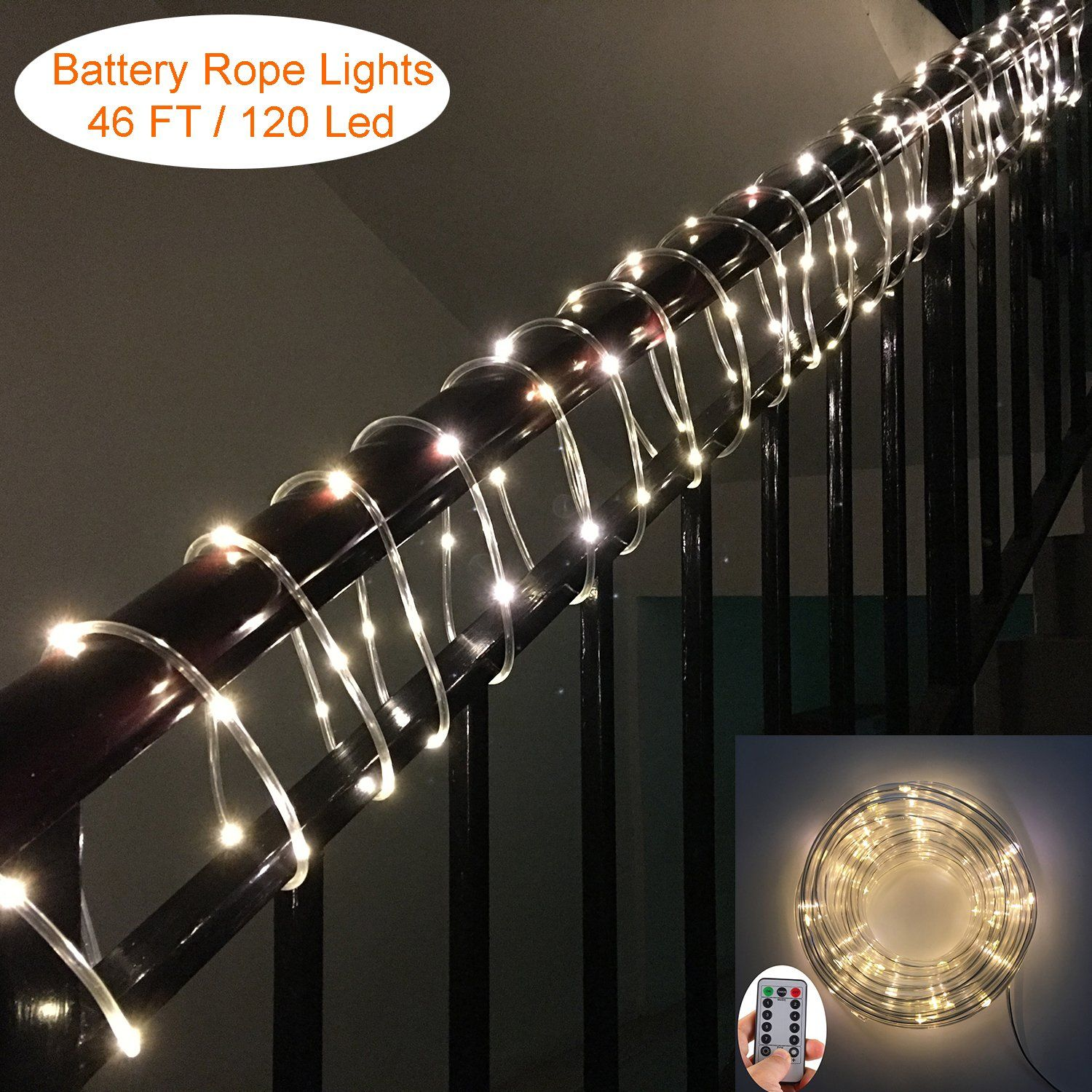 Led rope lights yesee 46ft120 led dimmable flexible tube string led rope lights yesee 46ft120 led dimmable flexible tube string lights battery powered aloadofball Image collections