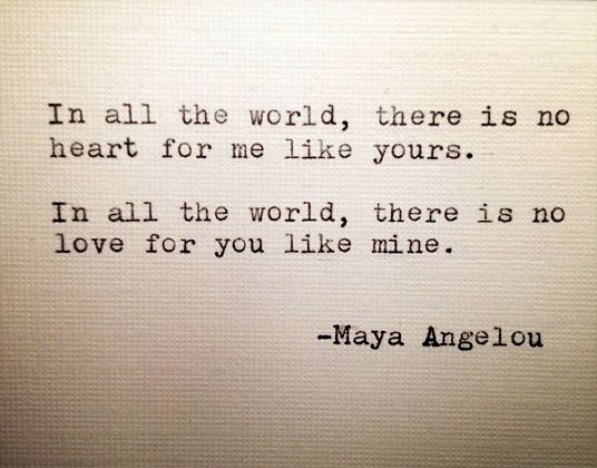 Maya Angelou Love Quotes Maya Angelou Love Quote Hand Typed On Typewriter  Maya Angelou