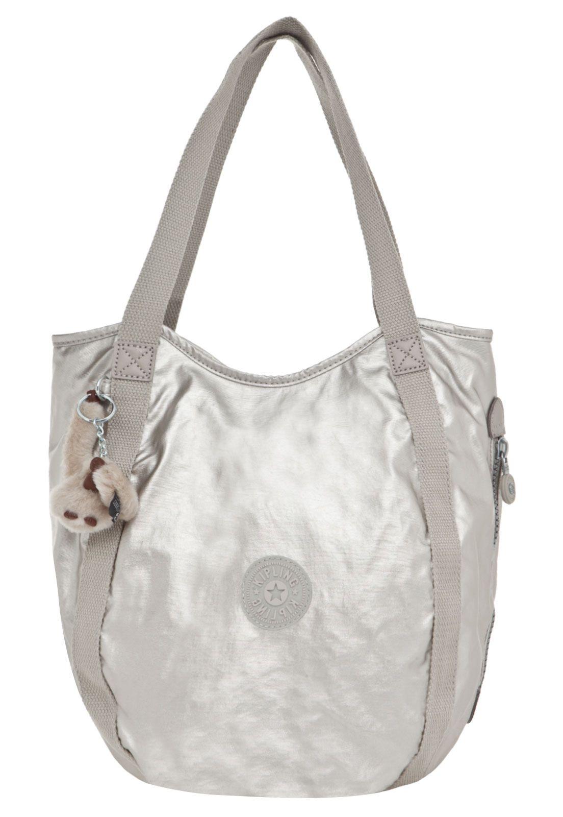 Bolsa Kipling Balloon Silver Beige Bege - Compre Agora   Dafiti ... 8373817bde