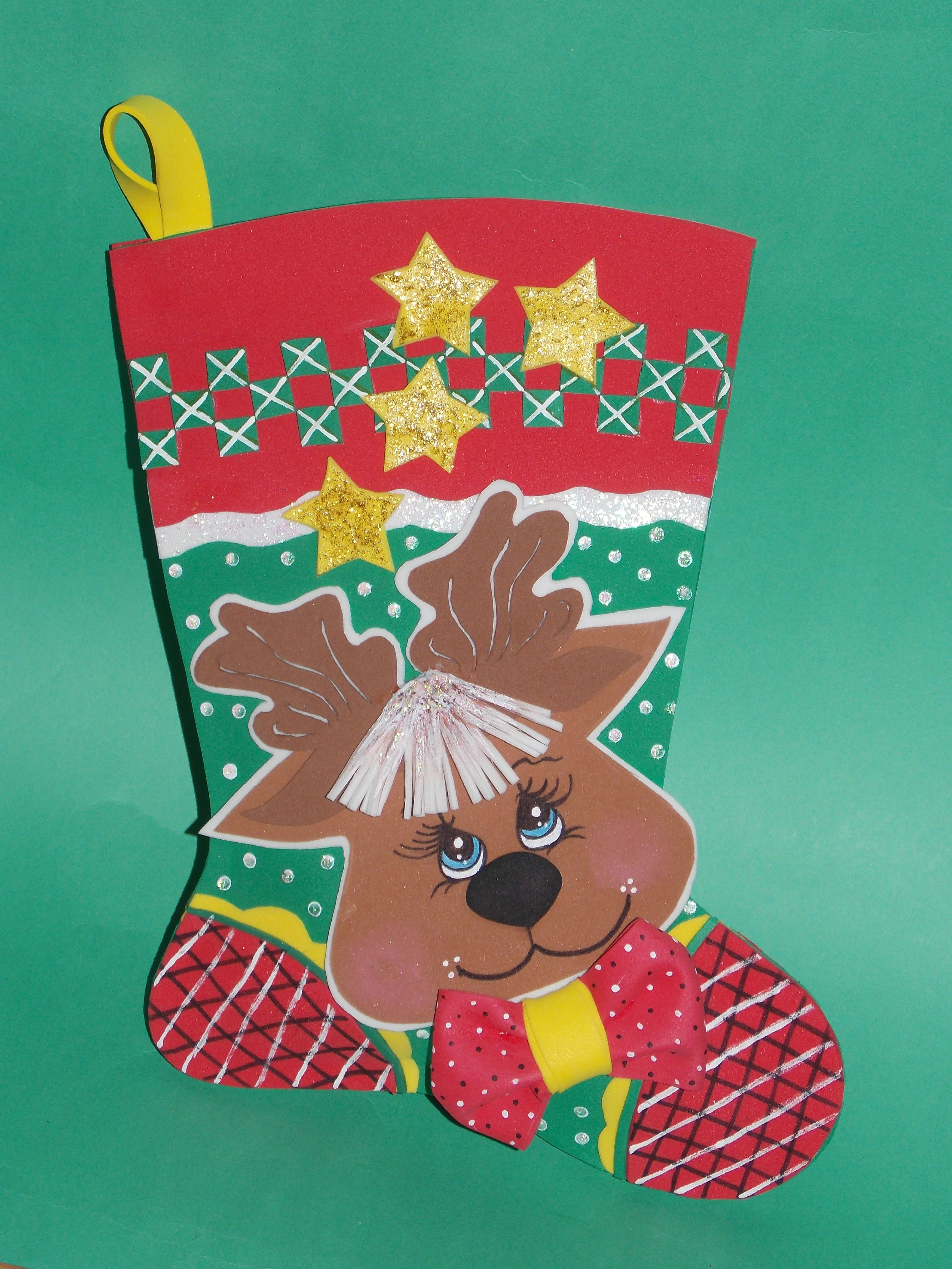 Bota navidad goma eva manualidades goma eva - Manualidades navidad goma eva ...