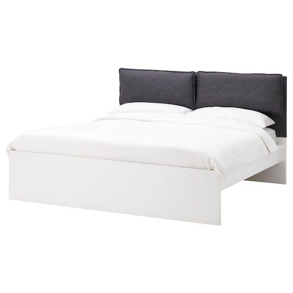 Malm Bezuge Fur Kopfteil 2 Kissen Skiftebo Dunkelgrau Ikea Deutschland Malm Kallax Regal Weiss Kopfteil Bett