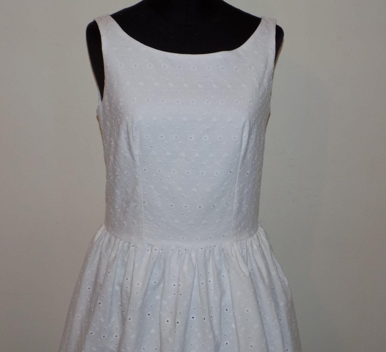 brand new 44976 693e9 Abito bianco in pizzo sangallo , abito corto , abito bianco ...
