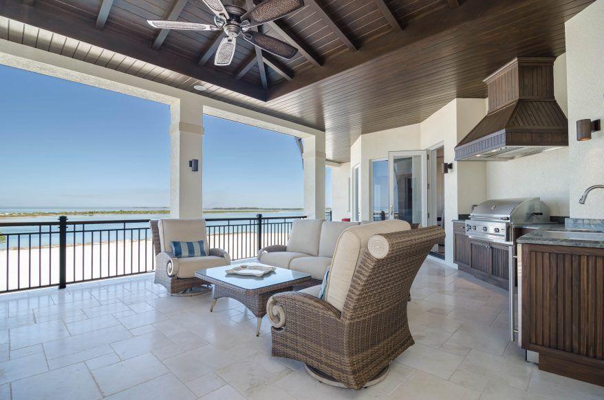 Oceanside Coastal Three Story Home Weber Design Group Inc Naples Palm Beach Fl Outdoor Kitchen Design Outdoor Living Design House Plans