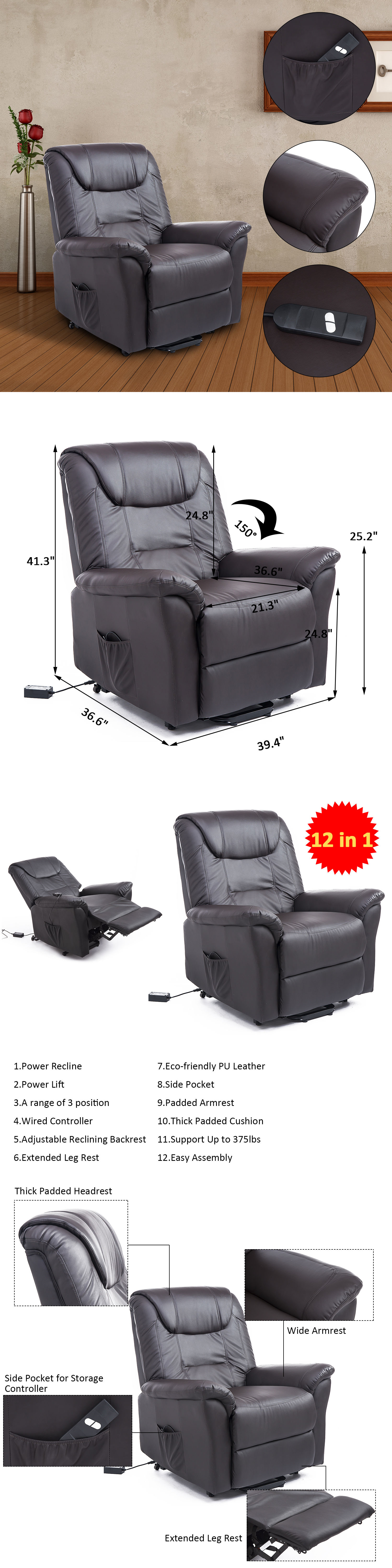 Stairlifts and Elevators: Electric Power Lift Chair Assist Sofa ...