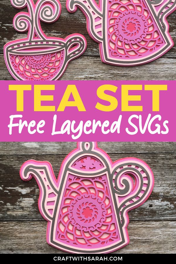 Download 5 Free Tea & Coffee Layered Mandala SVG Files | Cricut ...