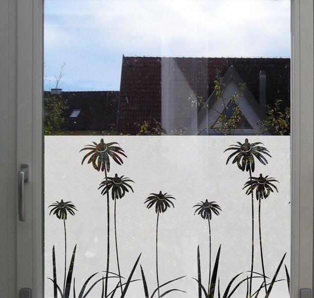 Fensterschmuck - Fensteraufkleber Milchglasfolie Blumen ...