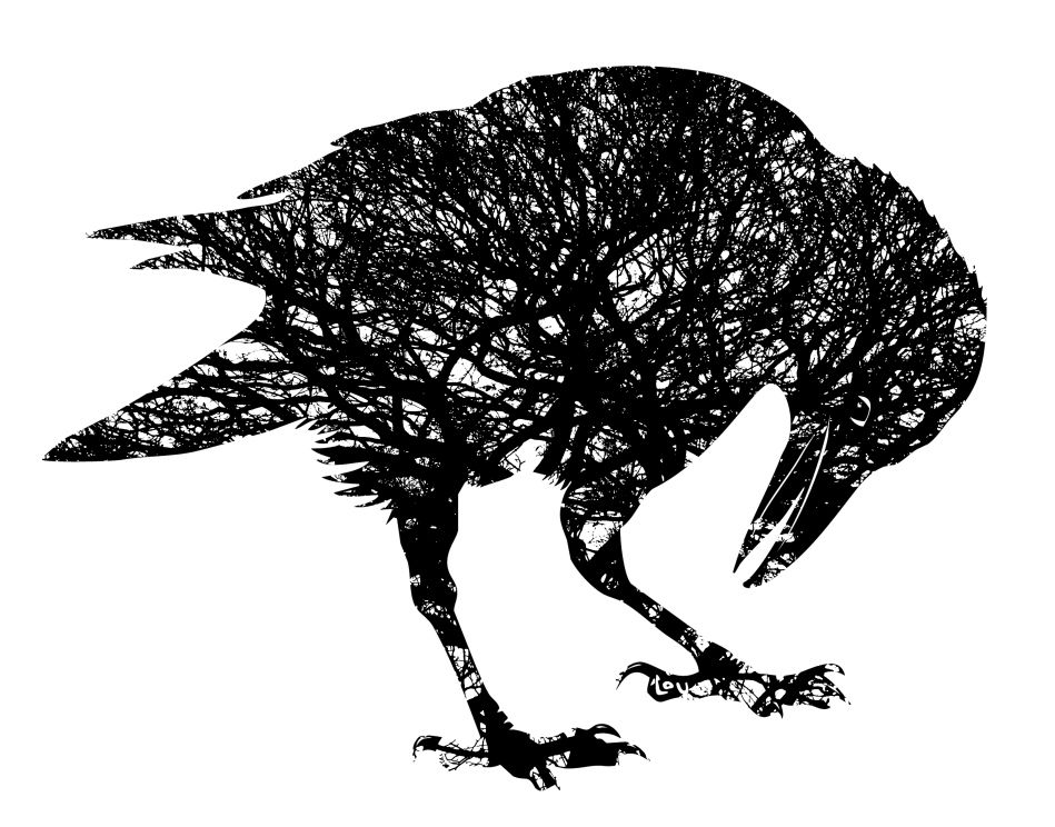oak tree logo design | Corvus Quercus, Oak tree Crow screen-print ...
