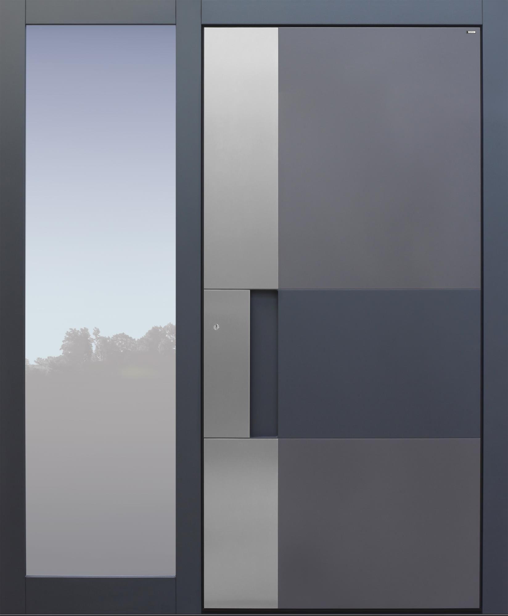 Haustur Modern Anthrazit Topiccore Mit Seitenteil