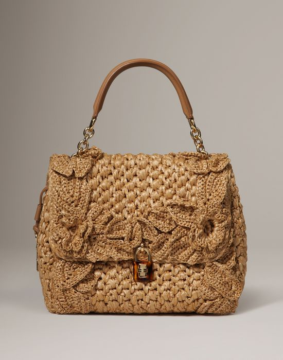 Raffia dolce bag Women - Bags Women on Dolce Online Store United Kingdom -  Dolce & Gabbana Group | Her Bags | Pinterest | Crochet purses, Women bags  and ...