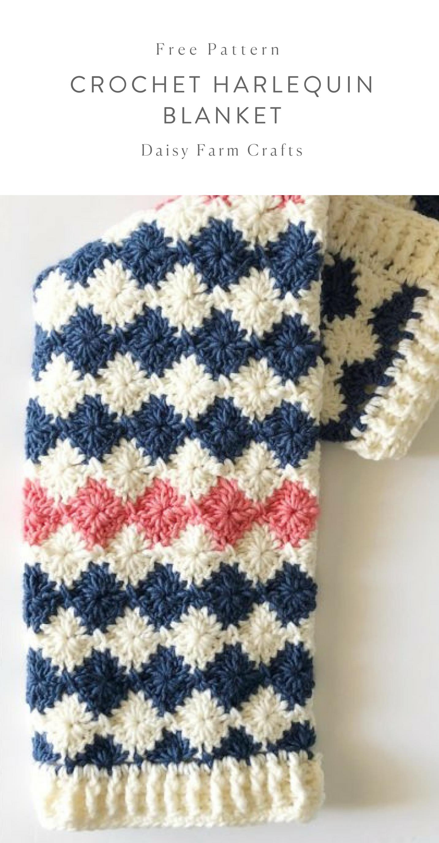 Free Pattern - Crochet Harlequin Blanket #crochet | Afghan ...