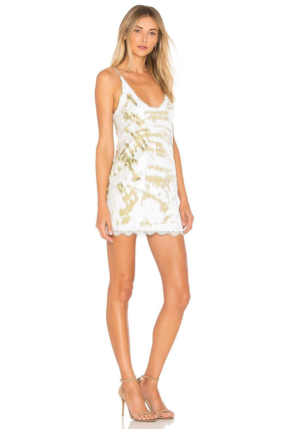 1059a7c6744 Free People Seeing Double Sequin Slip Dress in Ivory