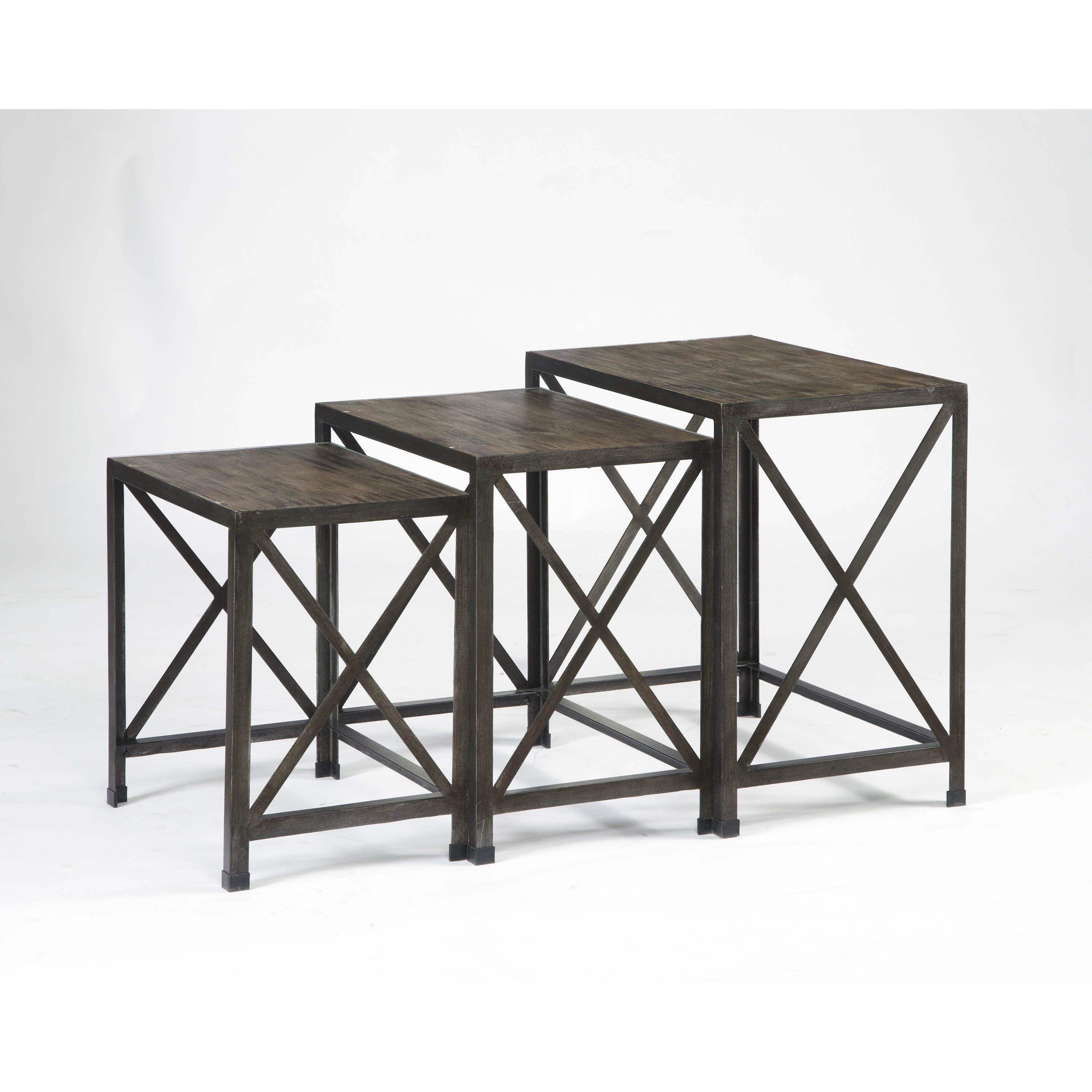 Signature Design By Ashley Vennilux Gray/Brown Nesting End Tables (Set Of 3)