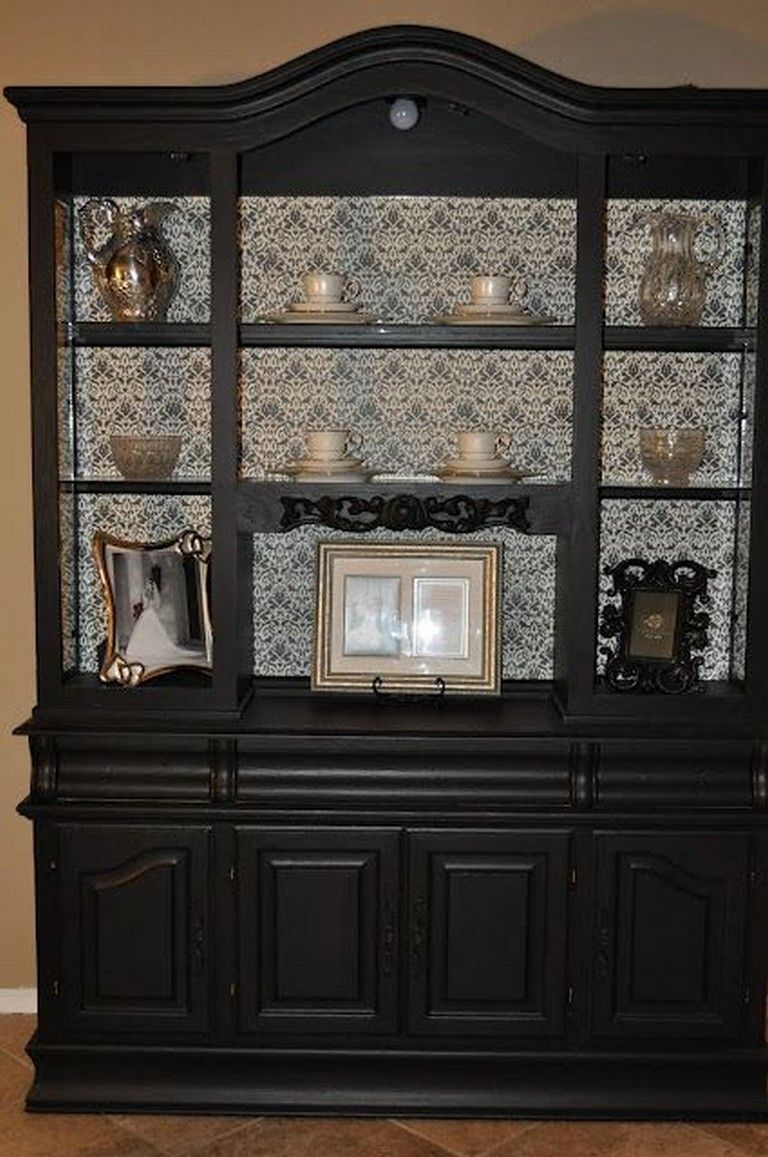 40 Amazing China Cabinet Makeover Ideas Painted China Cabinets Furniture Makeover Cabinet Makeover