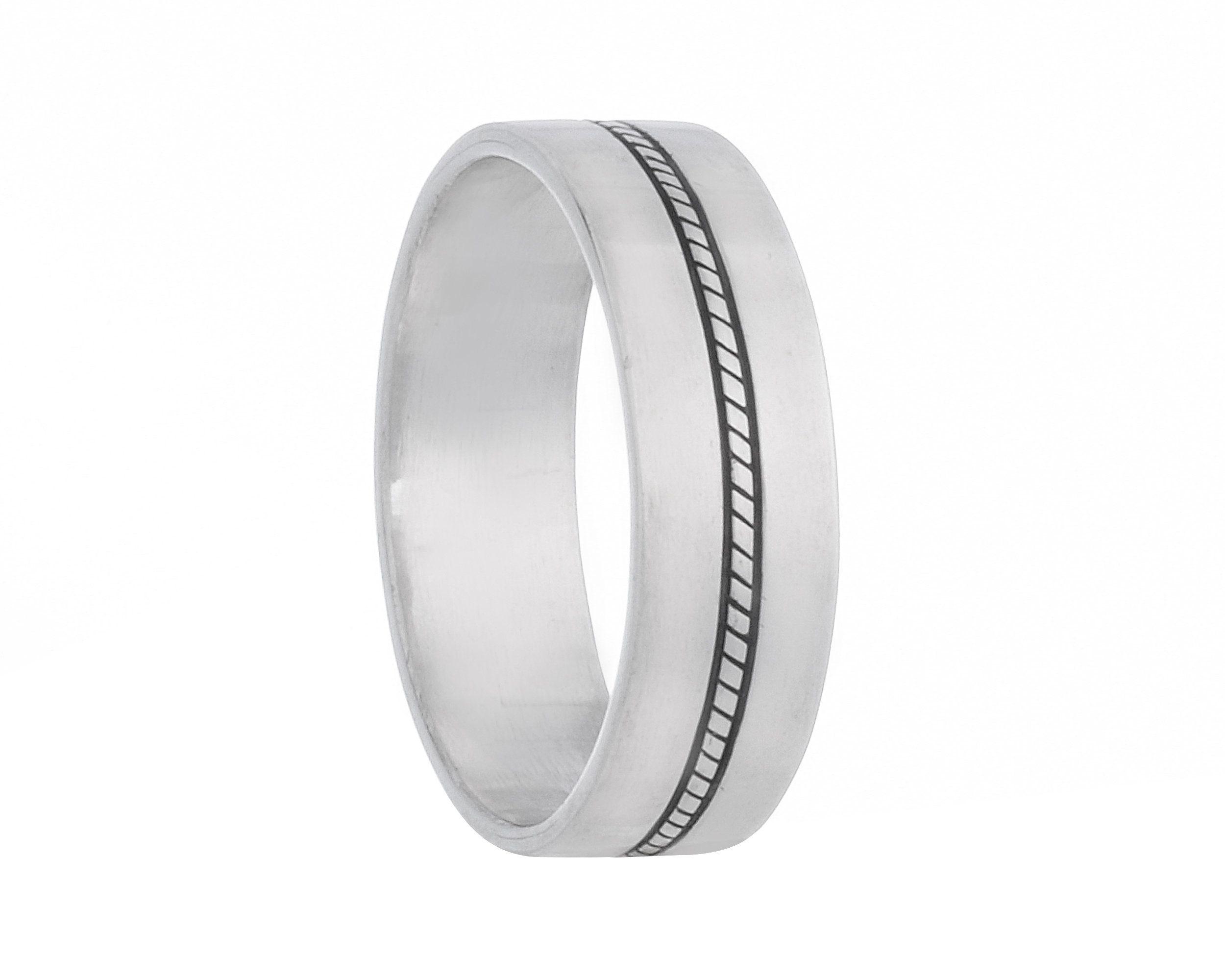 Men S Wedding Band 925 Sterling Silver Men S Ring Etsy In 2021 Silver Wedding Bands Sterling Silver Wedding Band Rings For Men
