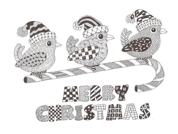 Zentangle made by Mariska den Boer 70  Christmas stuff