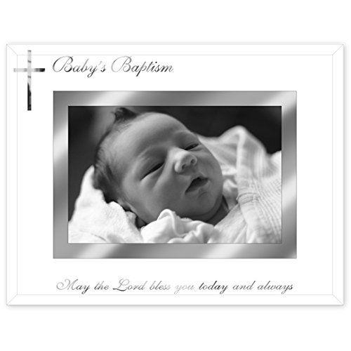 Malden International Designs Baby\'s Baptism Mirrored Glass With ...