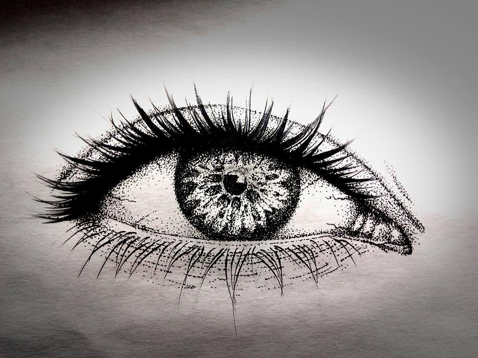 eye dotwork tattoo Hình xăm, Xăm, Hình