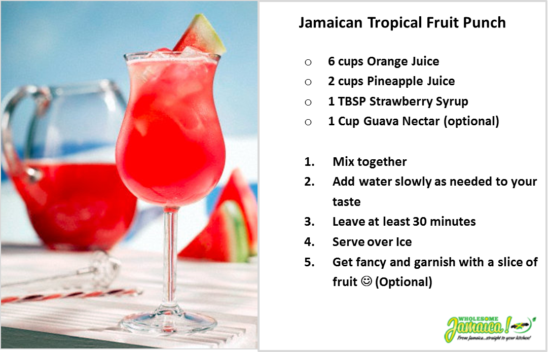 Jamaican Tropical Fruit Punch | Fruit punch, Alcoholic ...