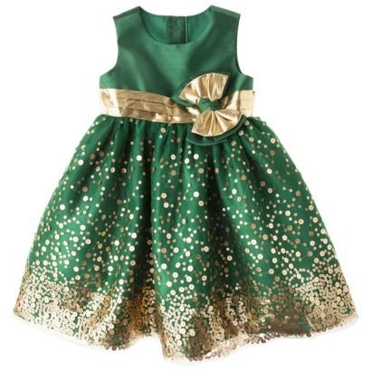 Rosenau™ Infant Toddler Girls' Sequin Dress - Gold Cute for new ...