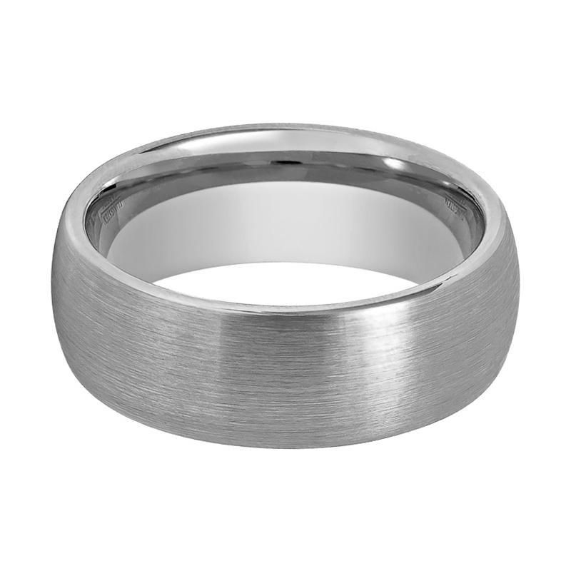 Silver Brushed Tungsten Couple Matching Wedding Ring With Round Domed Edges 2mm 12mm Silver Wedding Bands Mens Wedding Bands Tungsten Tungsten Carbide Wedding Bands