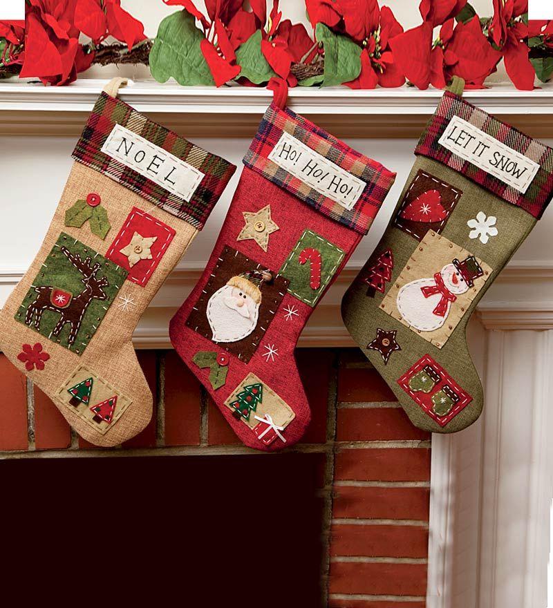 country christmas stockings - Country Christmas Stockings