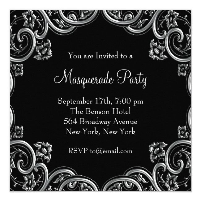 Create your own Invitation | Masquerade party invitations ...