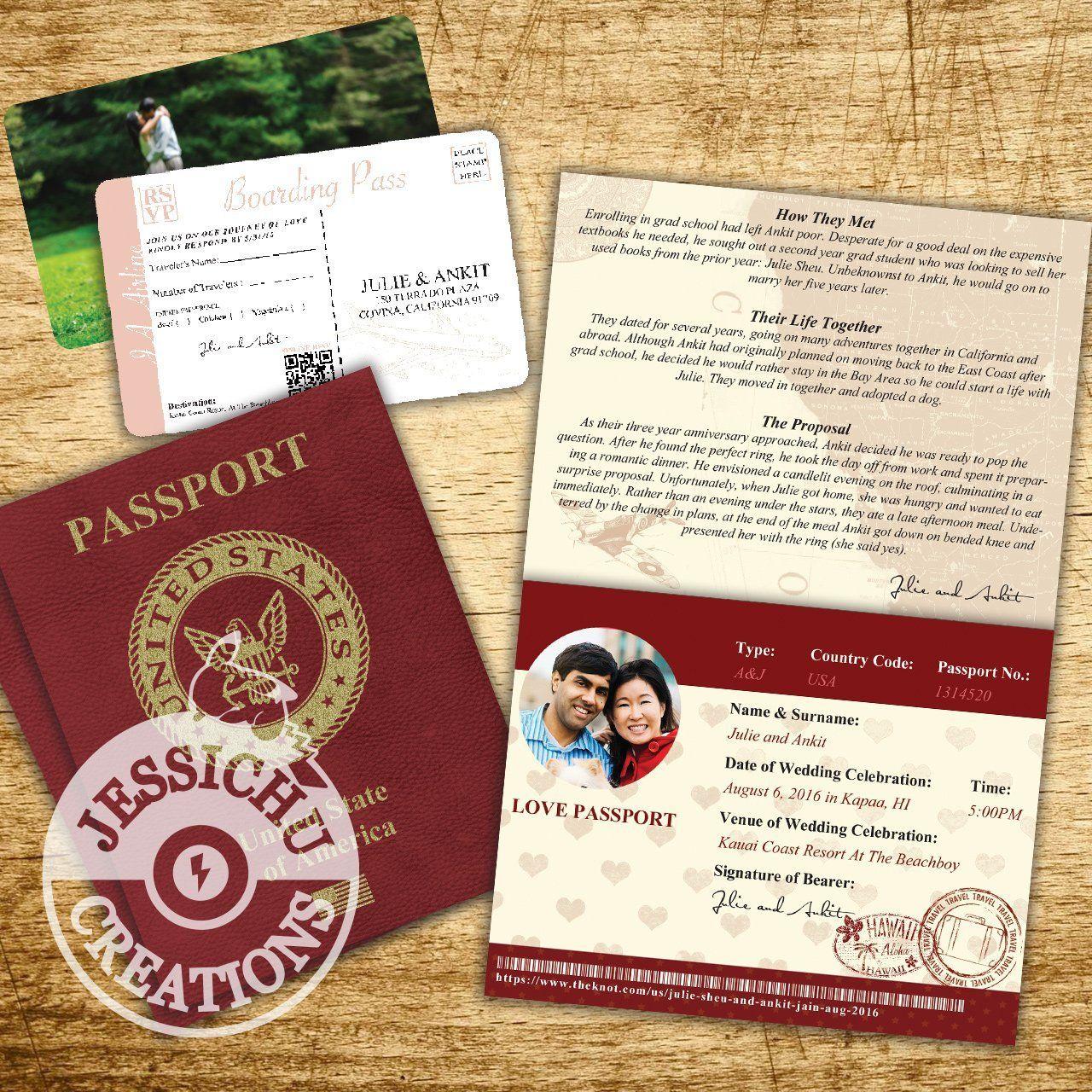 Passport & Ticket Wedding Invitation, Programs, Save the Date ...