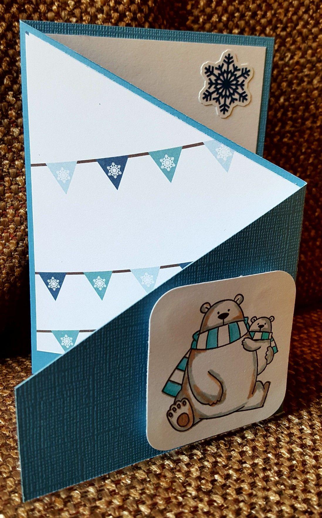 Tri-fold Christmas card. My Favorite things stamp   Scrapbooking ...