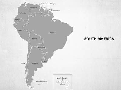 Download our professionally designed South America #Map With