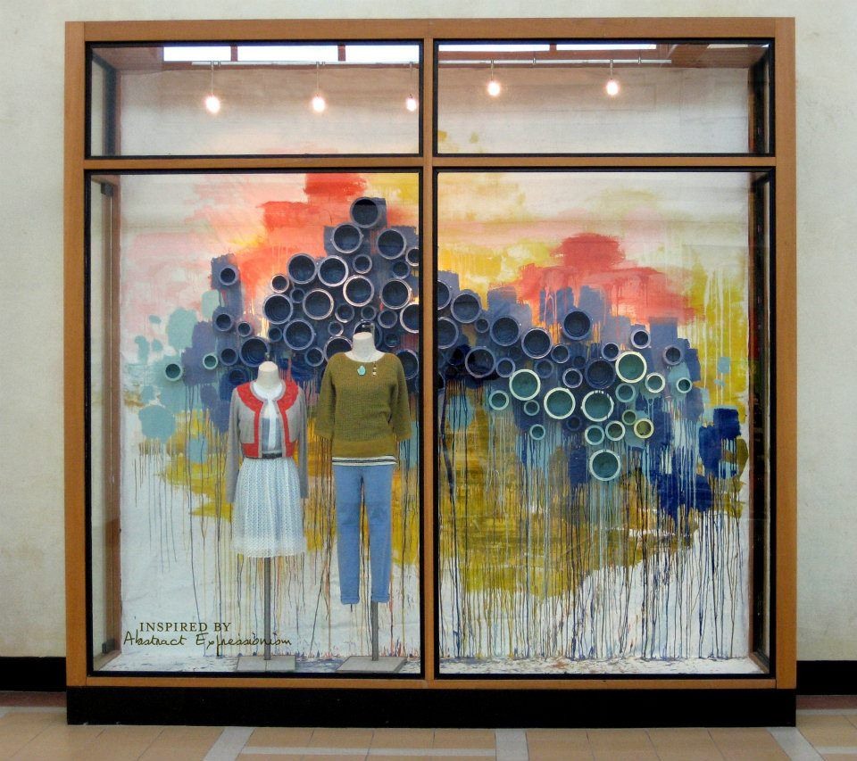 Anthropologie spring 2012 window display theme abstract for Anthropologie store decoration ideas