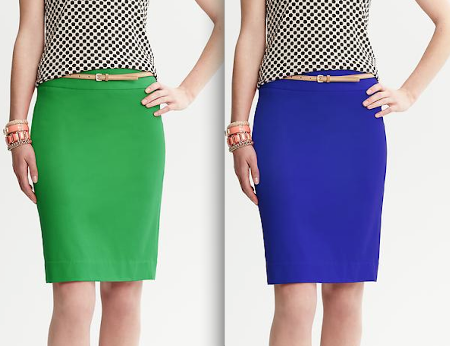 what do you wear with a pencil skirt